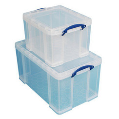 Really Useful Box Set van 2 opbergdozen, 35 L / 84 L