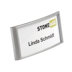 Badge Durable 8542 classic met magneet 34X74mm zilvergrijs