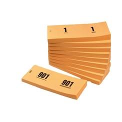 Nummerblok 42x105mm nummering 1-1000 oranje 10 stuks