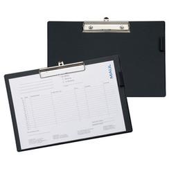 Klembord Maul A4-Folio dwars met kopklem zwart
