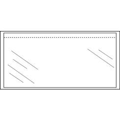 Paklijstenvelop CleverPack zelfklevend onbedrukt 230x110mm 100st