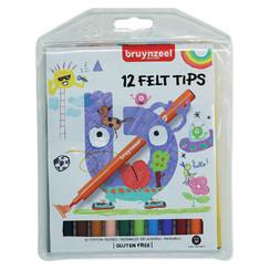 Viltstift Bruynzeel Kids etui  à 12 stuks assorti