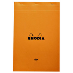 Schrijfblok Rhodia A4 80vel geel lijn - 19660C