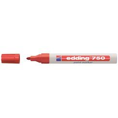 Viltstift edding 750 lakmarker rond rood 2-4mm