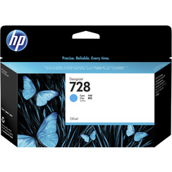 Inktcartridge HP F9J67A 728 blauw