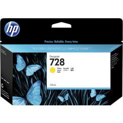 Inktcartridge HP F9J65A 728 geel