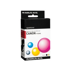 Inktcartridge Quantore Canon PG-540XL CL-541XL zwart kleur HC