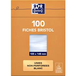 Flashcard Oxford 105x148mm 100vel 210gr blanco wit