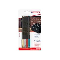 Fineliner edding 1200 assorti 1mm blister à 4 stuks