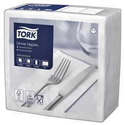 Servetten Tork 477554 Dinner 2laags 39x39cm wit 150st.