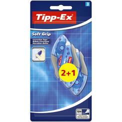 Correctieroller Tipp-ex soft grip 4,2mmx10m blister 2+1 gratis