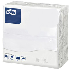 Servetten Tork 478746 Dinner 2laags 39x39cm wit 150st.