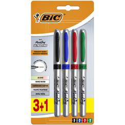 Cd marker Bic  zeer fijn 0.7mm blister 3+1 gratis assorti