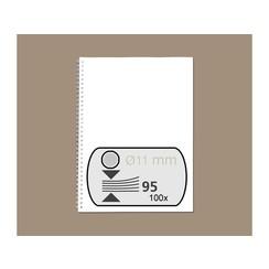 Draadrug GBC 11mm 34-rings A4 zilver 100stuks
