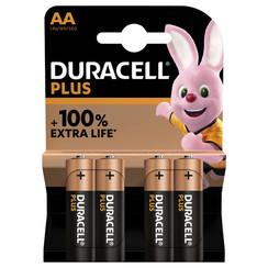 Batterij Duracell Plus 4xAA
