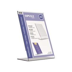 Kaarthouder OPUS 2 L-standaard A5 staand acryl