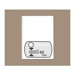 Draadrug Fellowes 8mm 34-rings A4 wit 100stuks