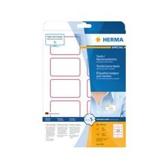 Naambadge etiket Herma 4410 80X50mm wit blauw