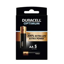 Batterij Duracell Optimum 5xAA