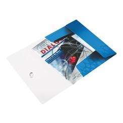 Elastomap Leitz WOW 3-kleps A4 PP blauw