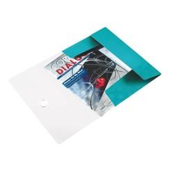 Elastomap Leitz WOW 3-kleps A4 PP ijsblauw