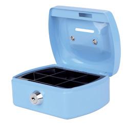 Geldkist Pavo met gleuf 125x95x60mm lichtblauw