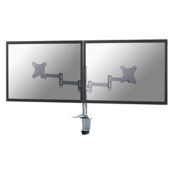 "Monitorarm Newstar D1330D 2x10-27"" zilvergrijs"