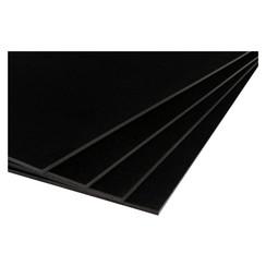 Foamboard 50x70cm 2-zijdig 5mm zwart