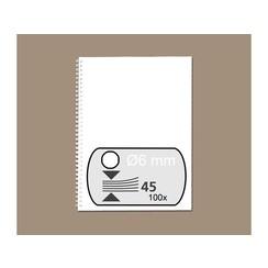 Draadrug Fellowes 6mm 34-rings A4 wit 100stuks