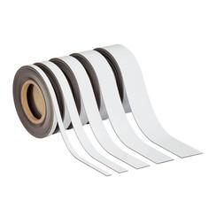 Magnetisch beschrijf- en wisbaar MAUL 10mx50mmx1mm wisbaar wit