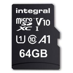 Geheugenkaart Integral microSDXC V10 64GB