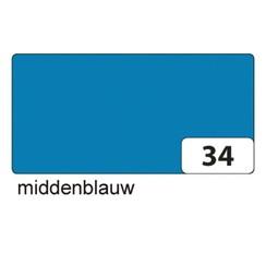 Fotokarton Folia 2zijdig 50x70cm 300gr nr34 middenblauw