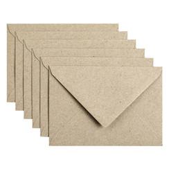 Envelop Papicolor C6 114x162mm Kraft grijs