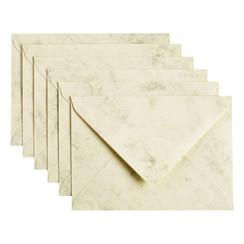 Envelop Papicolor C6 114x162mm Marble Ivoor