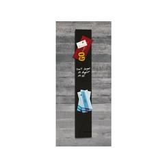 Glasbord Sigel magnetisch 120x780x15mm zwart