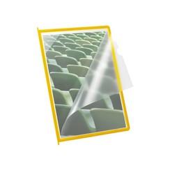 Infotas Flex-O-Frame met pen A4 geel