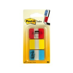 Indextabs 3M Post-it 686 strong 25.4x38.1mm assorti
