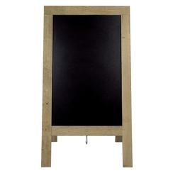 Stoepbord Securit 72x131x4cm steigerhout