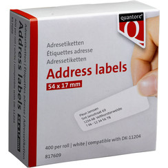 Labeletiket Quantore DK-11204 17x54mm wit