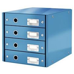 Ladenbox Leitz WOW Click & Store 4 laden blauw