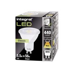 Ledlamp Integral GU10 5,5W 2700K warm licht 440lumen
