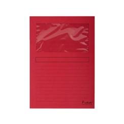 Insteekmap L-model Exacompta + venster karton rood