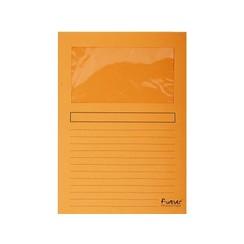 Insteekmap L-model Exacompta + venster karton oranje