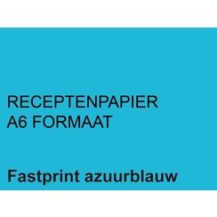 Receptpapier Fastprint A6 80gr lichtblauw 2000vel