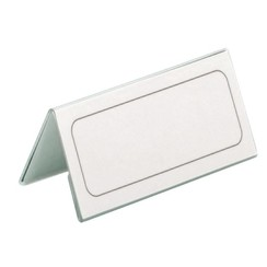 Tafelnaambord Durable 8052 61x210mm transparant