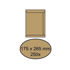 Envelop akte 175x265mm zelfklevend 90gr bruin 250stuks