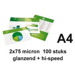 Lamineerhoes GBC A4 highspeed 2x75micron 100stuks