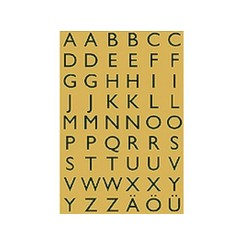 Etiket Herma 4145 13x12mm letters A-Z zwart op goud