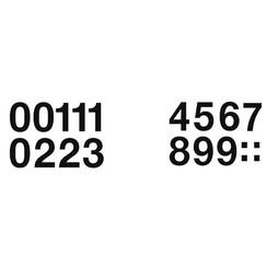 Etiket Herma 4189 33mm getallen 0-9 zwart 16stuks