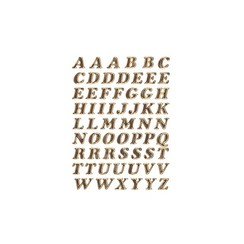 Etiket Herma 4192 8mm letters A-Z goudfolie 61stuks